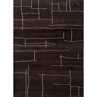 Old World Tribal Brown/ Ivory Area Rug (5'3 x 7'6)