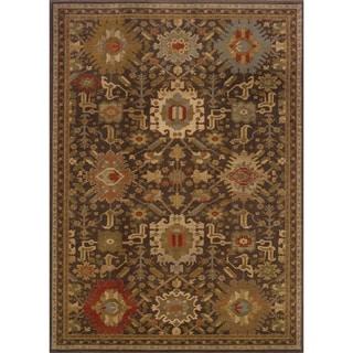 Tribal Brown/ Multi Rug (1'10 x 3'3)
