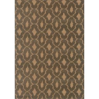 Ikat Panel Blue/ Ivory Rug (1'10 x 3'3)