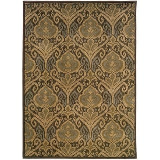 "Floral Panel Green/ Ivory Rug (1'10 x 3'3) - 1'10"" x 3'3"""