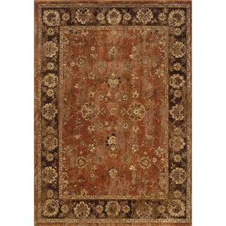 Distressed Oriental Orange/ Brown Rug (1'10 x 3'3)