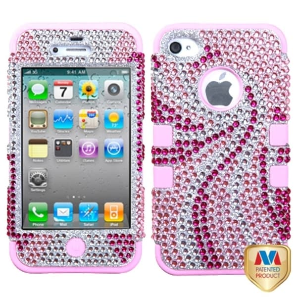 INSTEN TUFF Hybrid Phone Case Cover for Apple® iPhone 4S/ 4