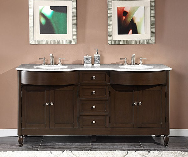 exclusive white marble stone top bathroom double sink cabinet vanity 2863ec small under shaker style gloss cabinets