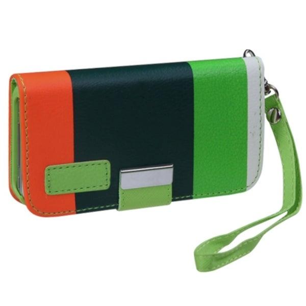 BasAcc Green/ Orange MyJacket Wallet Case for Apple iPhone 4S/ 4