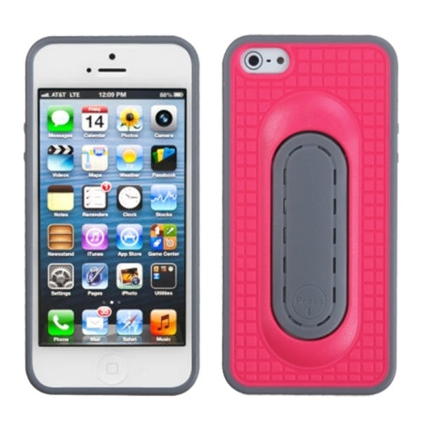 INSTEN Hot Pink Snap Tail Stand Phone Case for Apple iPhone 5/ 5S/ SE