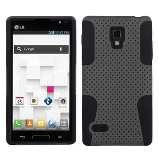 INSTEN Grey/ Black Astronoot Phone Case Cover for LG Optimus L9 P769