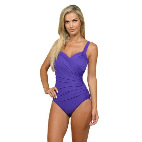 Miraclesuit Women's 'Sanibel' Iris Purple 1-Piece Swimsuit