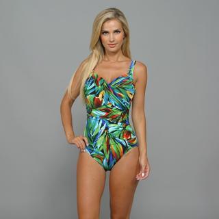 Miraclesuit Women's 'Sanibel' Tropical Print 1-Piece Swimsuit