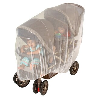 Jeep White Double Stroller Netting