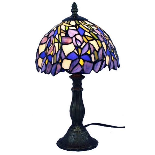 amora lighting tiffany style iris table lamp free shipping today. Black Bedroom Furniture Sets. Home Design Ideas