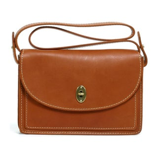 Fossil 'Austin' Saddle Leather Convertible Clutch Bag