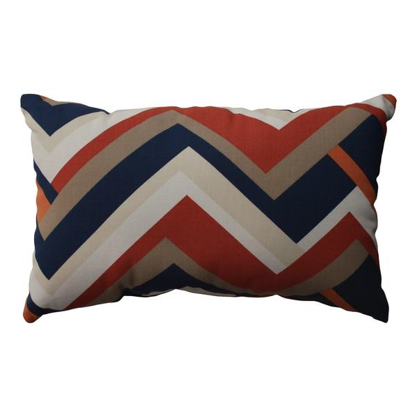 Pillow Perfect Concorde Chevron Rectangular Throw Pillow