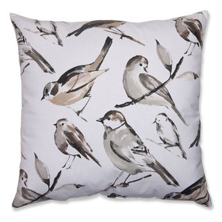 Pillow Perfect Bird Watcher Charcoal 24.5-inch Throw Pillow