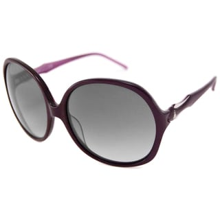 Roberto Cavalli Women's RC657S Bougainvillea Rectangular Sunglasses with Plum Frame