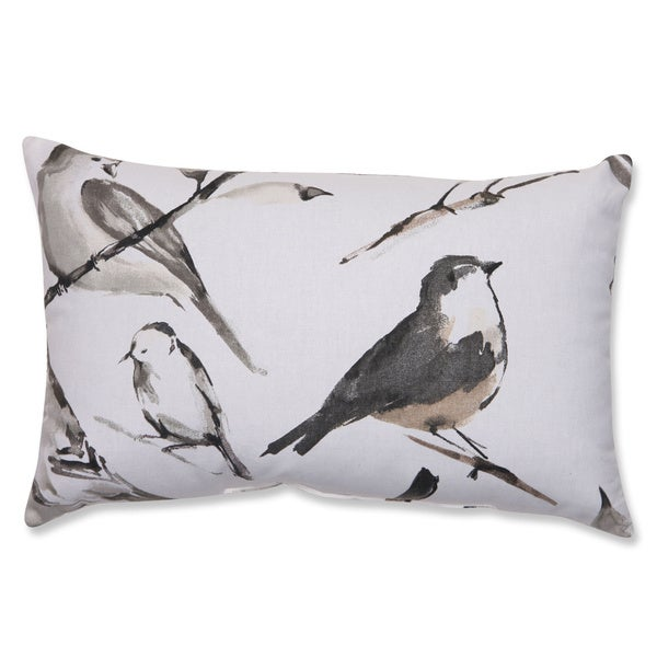 Pillow Perfect Bird Watcher Charcoal Rectangular Throw Pillow