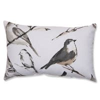 The Gray Barn Windy Oaks Charcoal Bird Throw Pillow