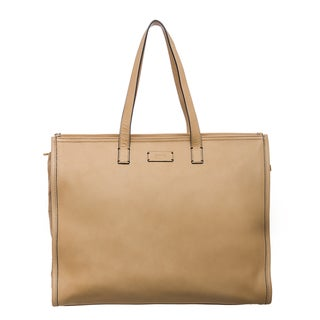 Fendi Leather and Suede Perforated Shopper