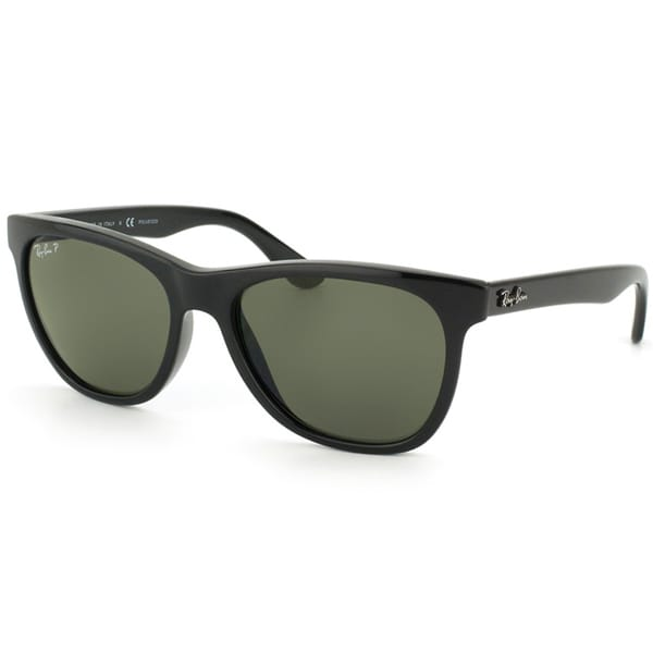 Ray-Ban Unisex Shiny Black Square Polarized Sunglasses