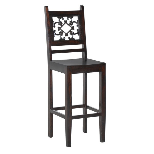 Kosas Home Venice Dark Mahogany 30 Inch Bar Stool