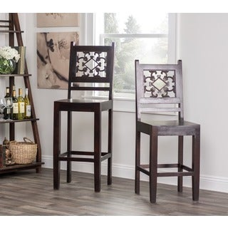 Kosas Home 'Venice' Dark Mahogany 30-inch Bar Stool