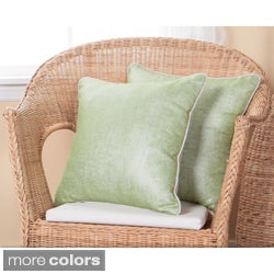 Aurora Home Metallic Linen 18-Inch Throw Pillows (Set of 2)