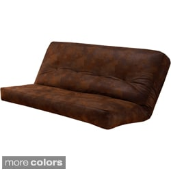 Somette Palomino Faux Leather Full-size Futon Cover