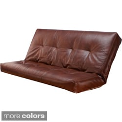 Somette Bonded Leather Oregon Trail Full-size Futon Cover (Cover Only)