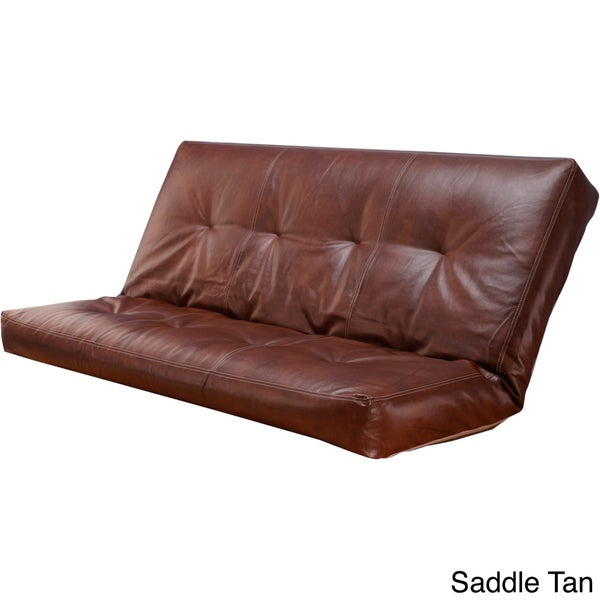 Clay Alder Home Zumbro Bonded Leather Full Size Futon Cover