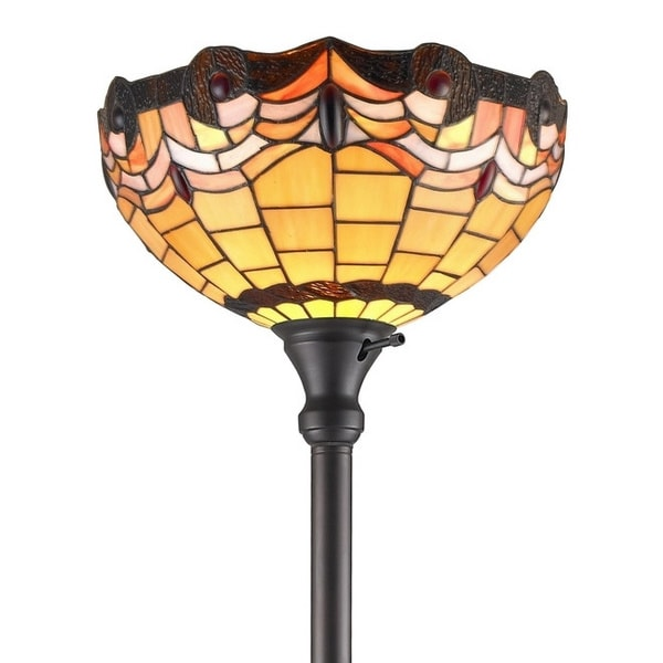 amora lighting tiffany style torchiere lamp free shipping today. Black Bedroom Furniture Sets. Home Design Ideas
