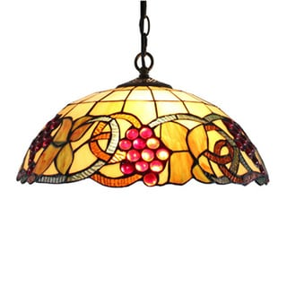 Amora Lighting Tiffany Style Colorful Hanging Lamp