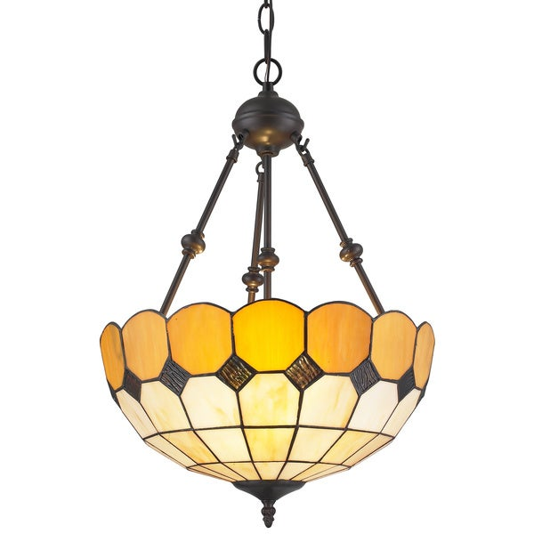 amora lighting tiffany style amber hanging lamp free shipping today. Black Bedroom Furniture Sets. Home Design Ideas