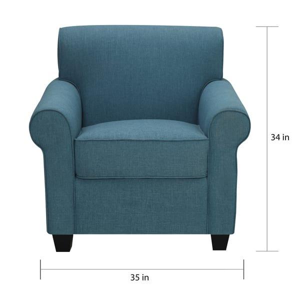 Brilliant Shop Porch Den Pope Street Caribbean Blue Linen Arm Chair Ibusinesslaw Wood Chair Design Ideas Ibusinesslaworg