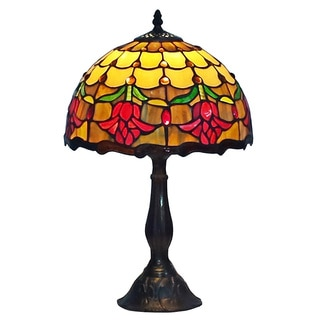 Amora Lighting Tiffany Style Tulips Table Lamp