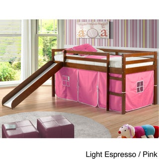 Donco Kids Twin-size Tent Loft Bed with Slide (More options available)