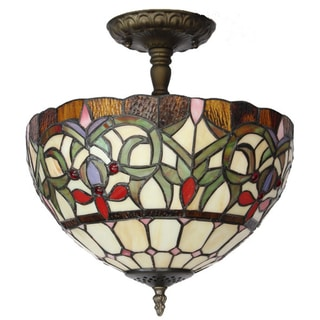 Amora Lighting Tiffany Style Ceiling Lamp