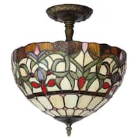 Amora Lighting Tiffany Style Ceiling Lamp