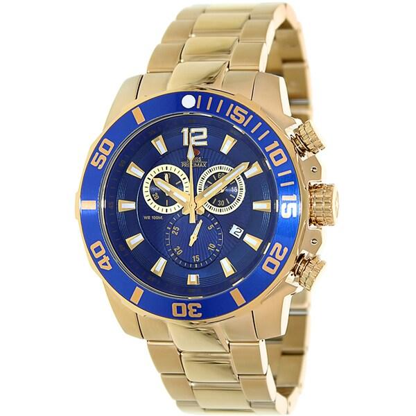 Swiss Precimax Men's Crew Pro SP13255 Gold Stainless-Steel Band Swiss Chronograph Watch