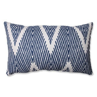 Pillow Perfect Bali Navy Rectangular Throw Pillow