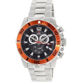Swiss Precimax Men's Crew Pro Silver Stainless-Steel Swiss Chronograph Watch