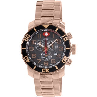 Swiss Precimax Men's Verto Pro Rose-Gold Stainless-Steel Band Swiss Chronograph Watch