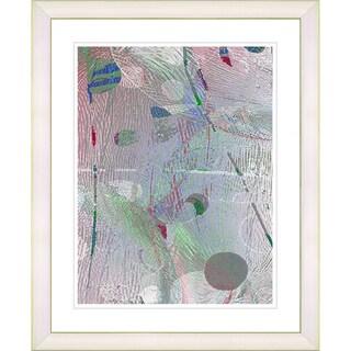 Studio Works Modern 'Plyos Pastel - Smoke Rose' Framed Art Print