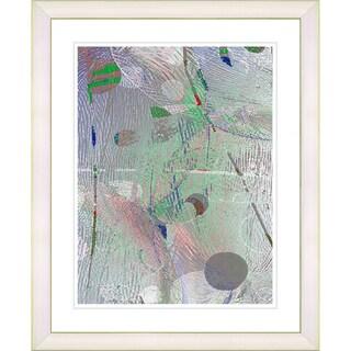 Studio Works Modern 'Plyos Pastel - Smoke Green' Framed Art Print