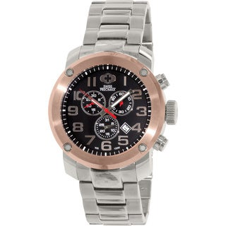 Swiss Precimax Men's Marauder Pro Silver Stainless-Steel Band Swiss Chronograph Watch with Black Dial