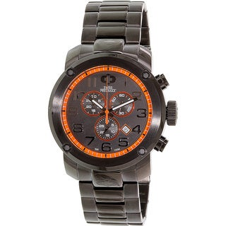 Swiss Precimax Marauder Pro Men's Black-Dial Stainless-Steel-Band Swiss Chronograph Watch