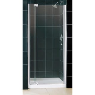 DreamLine Allure Frameless Pivot Shower Door and SlimLine 36 in. by 36 in. Single Threshold Shower Base