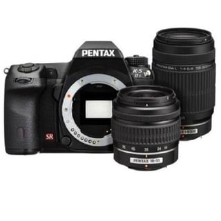 Pentax K-5 IIS DSLR Camera with 18-55mm and 55-300mm DAL Lenses Bundle Kit