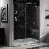 DreamLine Allure Frameless Pivot Shower Door and SlimLine 36 in. by 60 in. Single Threshold Shower Base