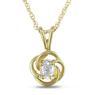Miadora 10k Yellow Gold Cubic Zirconia Pendant Necklace