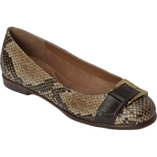 Women's Aerosoles Beclaration Brown Multi Synthetic Snake Print