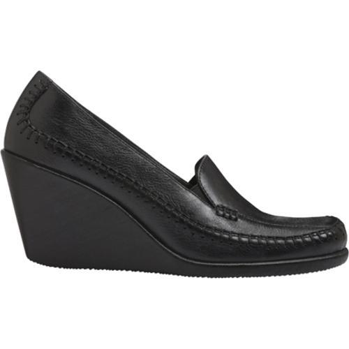 Women's Aerosoles Social Gathering Black Leather - Thumbnail 1